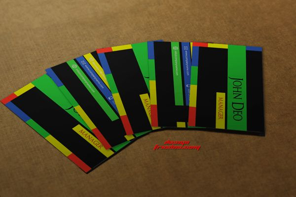 Multi-color Free business card template psd
