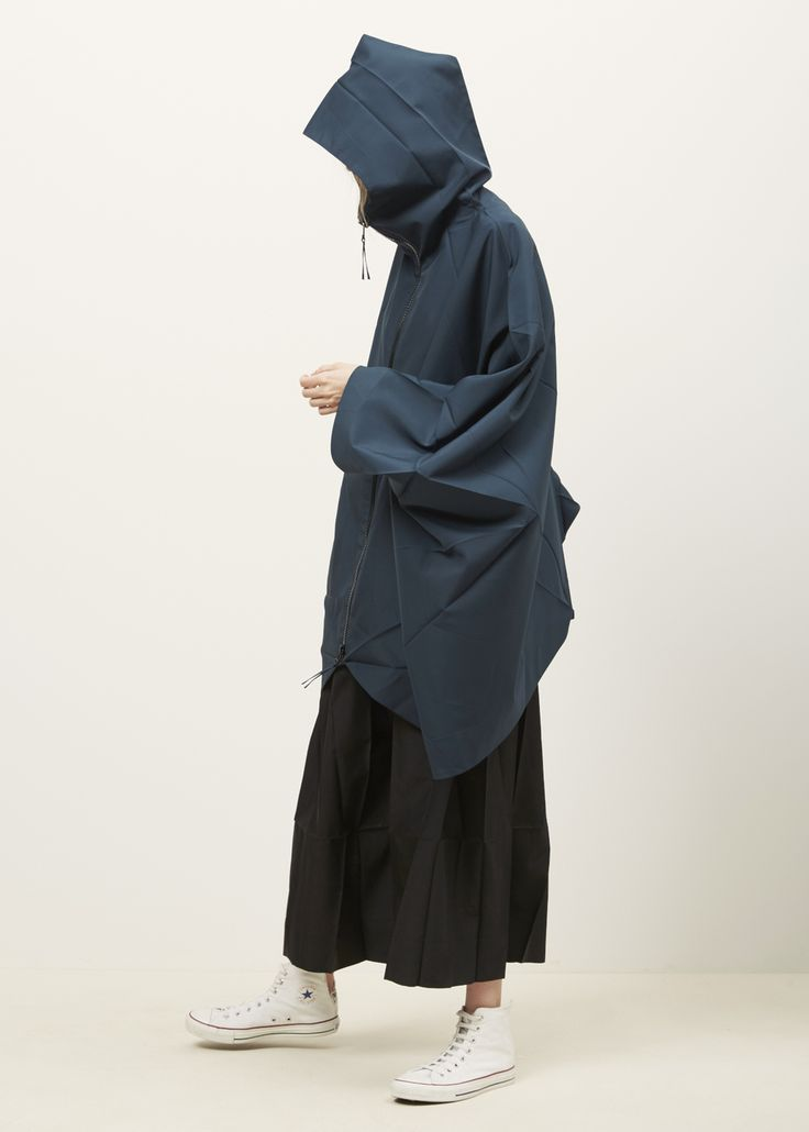issey miyake | origami hooded cape