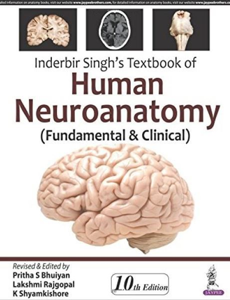 Inderbir Singh's Textbook of Human Neuroanatomy - 10th