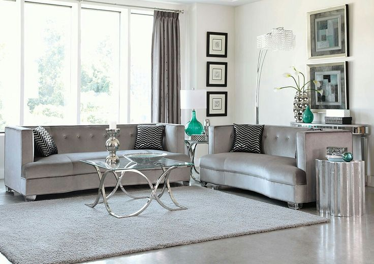 Silver Sofa Living RoomWood