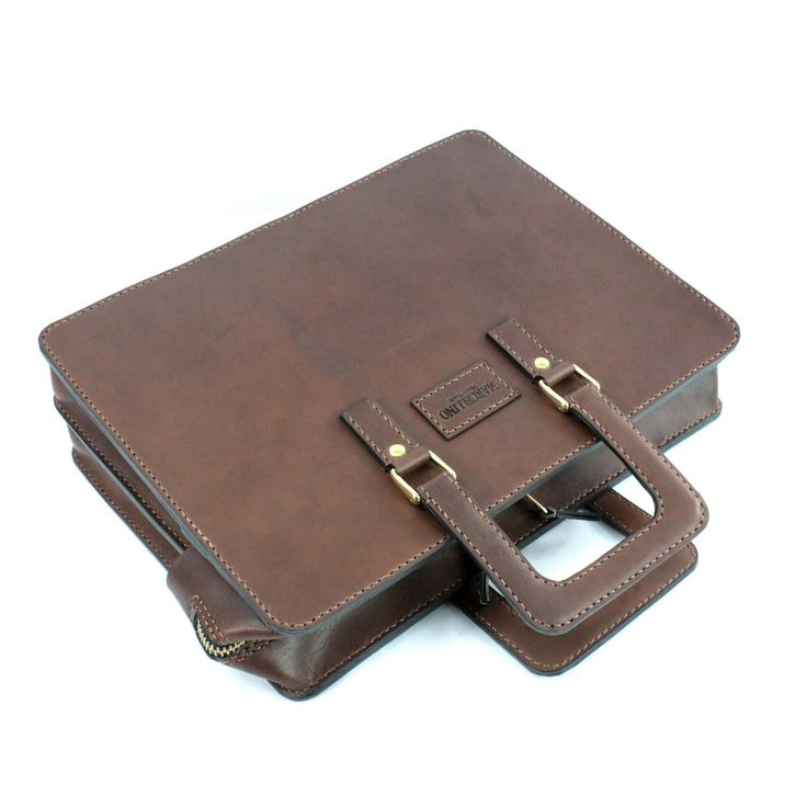 2102 top open leather briefcase - 11