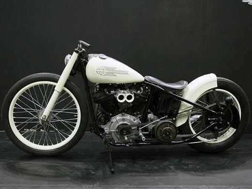 Harley Davidson Knuckle Head By Hide Motorcycle     ♠ http://hellkustom.blogspot.com/ ♠