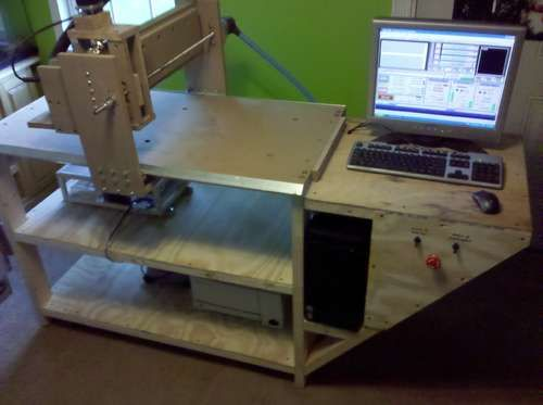 Homemade 2'x4' Wood CNC Router - @17 years old!!? man i feel stupid.
