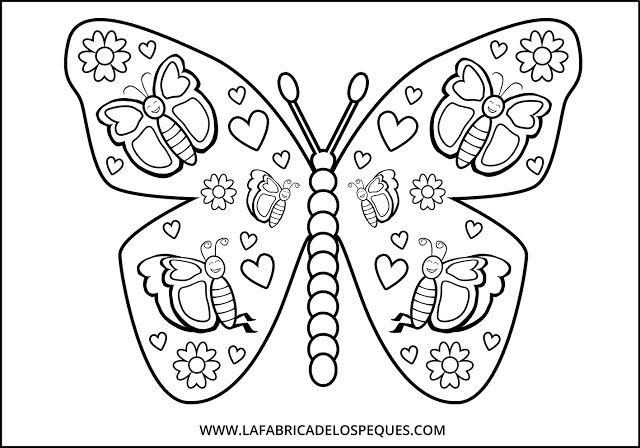 mandalas infantiles mariposas