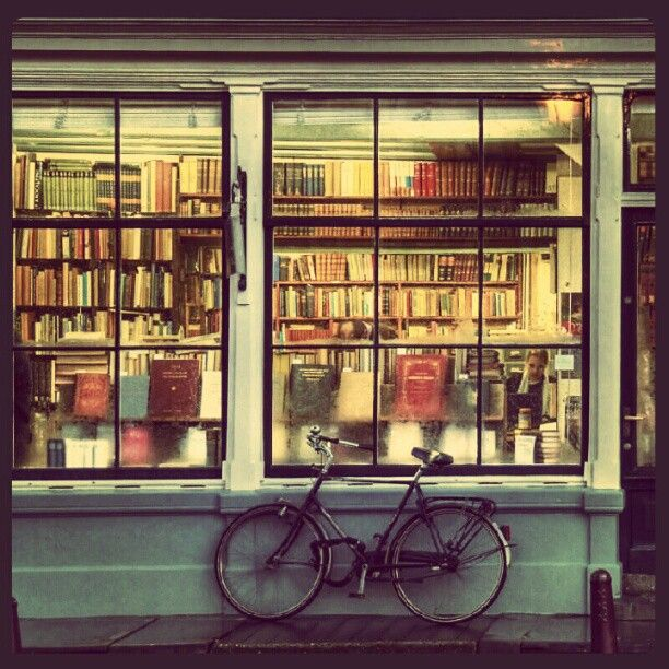 old, run-down bookstore. THIS. THIS for the setting I made up for that story in my head... la dee da...