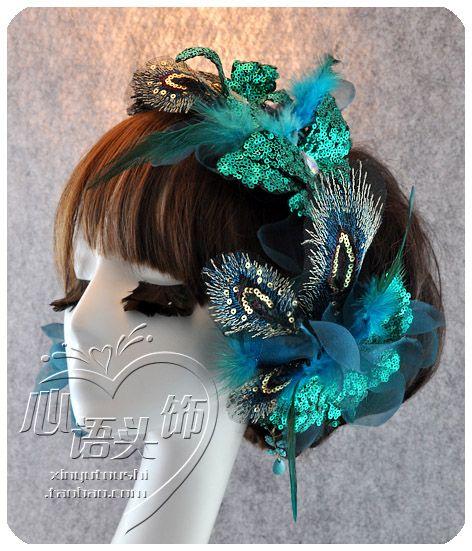 Xinyu Павлин Принцесса-невеста волос ужин костюм смокинг свадебные аксессуары головной убор из перьев головка цветка - Taobao