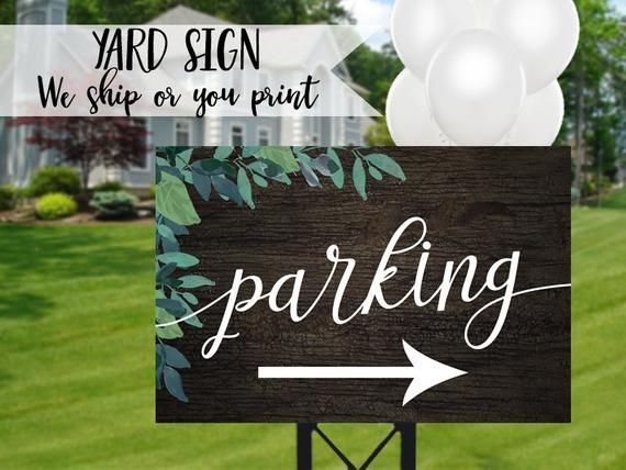 Wood Wedding Parking Sign Wooden Parking Sign Rustic Parking Sign Outdoor Party Sign Rustic Party Parking Sign Wo In 2020 Wedding Signs Rustic Party Parking Signs