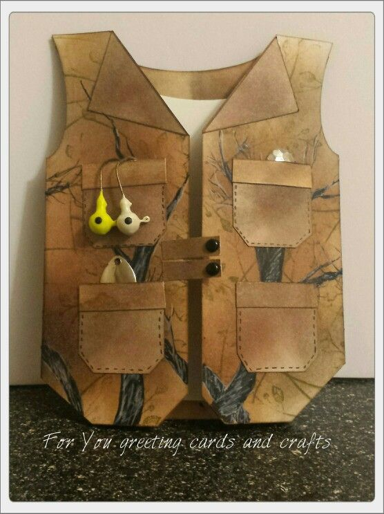 Fishing vest fathers day card