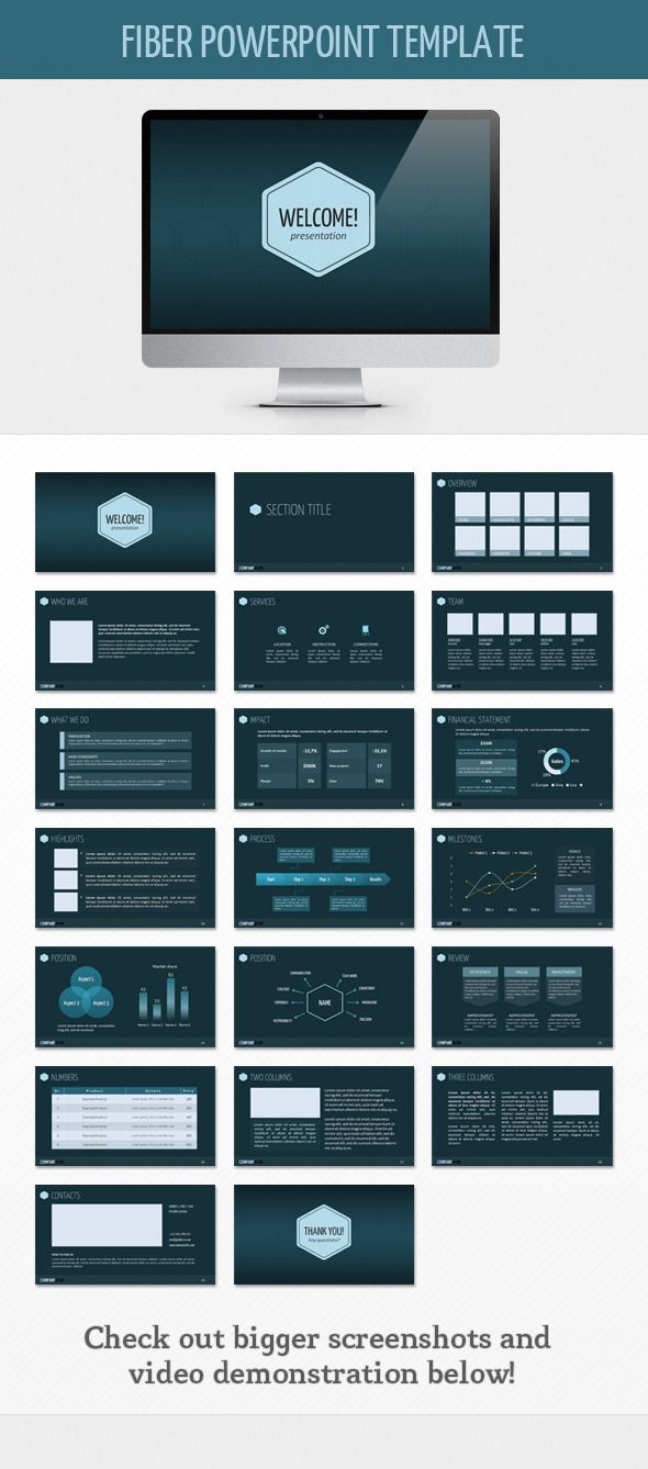 Fiber PowerPoint Template  #unique #technology  #modern • Click here to download ! http://graphicriver.net/item/fiber-powerpoint-template/2839991?s_rank=1347&ref=pxcr