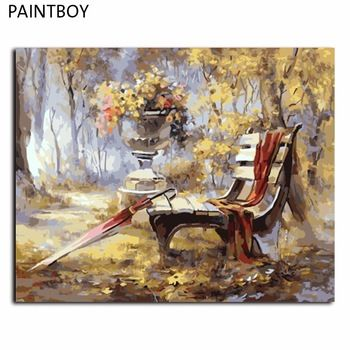 DIY DIY Frameless Pictures PaintBy Numbers Abstract Landscape DIY Digital Canvas Oil Painting Home D
