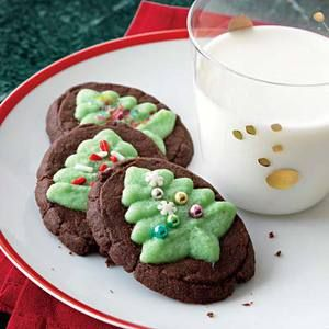 Chocolate-Mint Evergreen Christmas Tree Cookies maybe next year