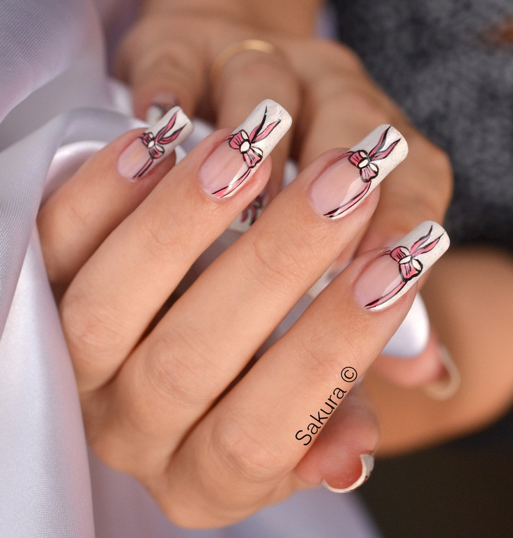 21 best Bow Nail Art images on Pinterest | Belle nails, Nail ...