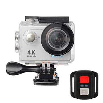 EKEN H9R Sports Action Camera 4K Ultra HD 2.4G Remote WiFi 170 Degree Wide Angle Sale - Banggood.com