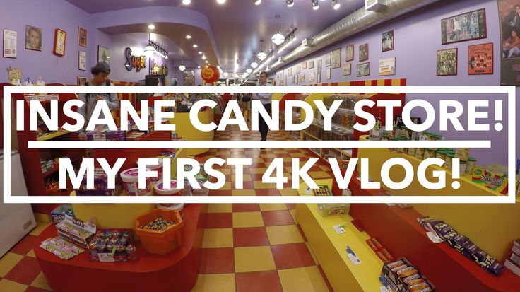Insane Candy Store! MY FIRST 4K VLOG!