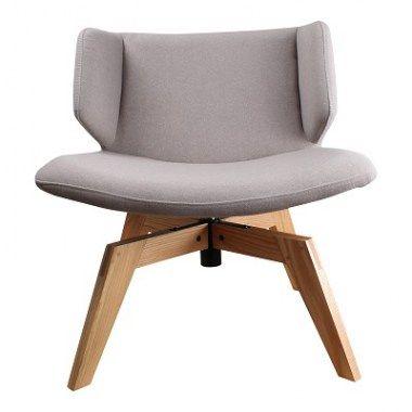 Fauteuils : Kalmar flow fauteuil lichtgrijs