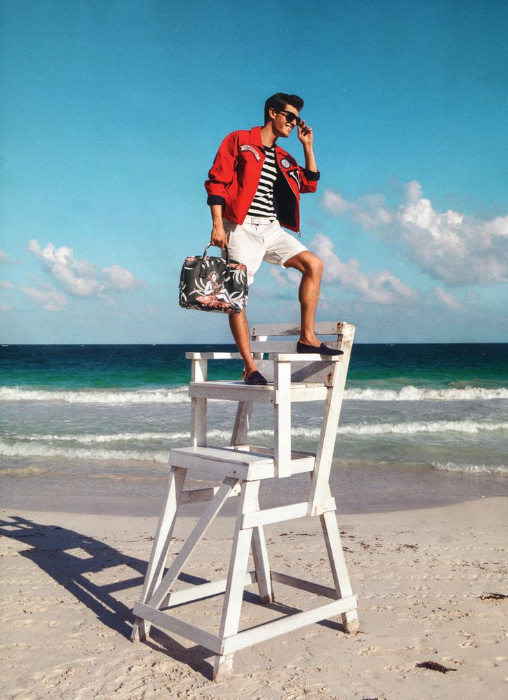 Aloha! Paolo Anchisi Models Tropical Styles for GQ Spain image Paolo Anchisi Model 004