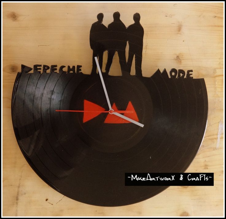 Depeche Mode vinyl clock.