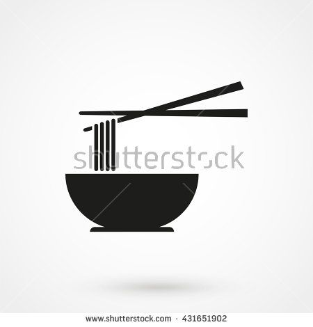 Noodle icon isolated on background. Modern flat pictogram, business, marketing, internet concept. Trendy Simple vector symbol for web site design or button to mobile app. Logo illustration