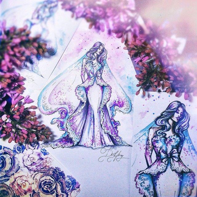 #art #girl #graphic #draw #idraw #ink #illustration #fashionillustration #flower #paint #watercolor #sketch #арт #рисунок #графика #скетч #эскиз #набросок #ярисую #акварель #иллюстрация #цветы #невеста #сирень #карандаш #фиолетовый