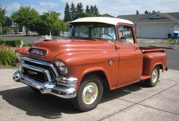hemmings find of the day 1955 gmc 100 series the o 39 jays and the day. Black Bedroom Furniture Sets. Home Design Ideas