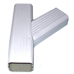 Ryan Seamless Gutter Ywh Right 2 Quot X3 Quot White Aluminum