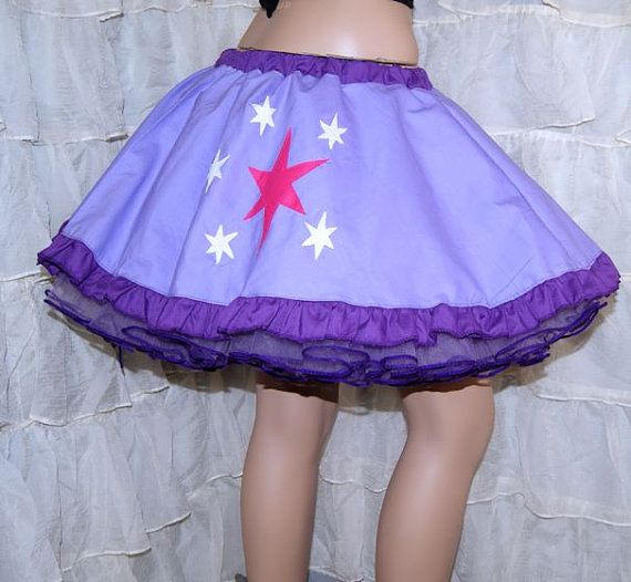 MLP Twilight Sparkle Applique Circle Skirt Adult ALL by mtcoffinz