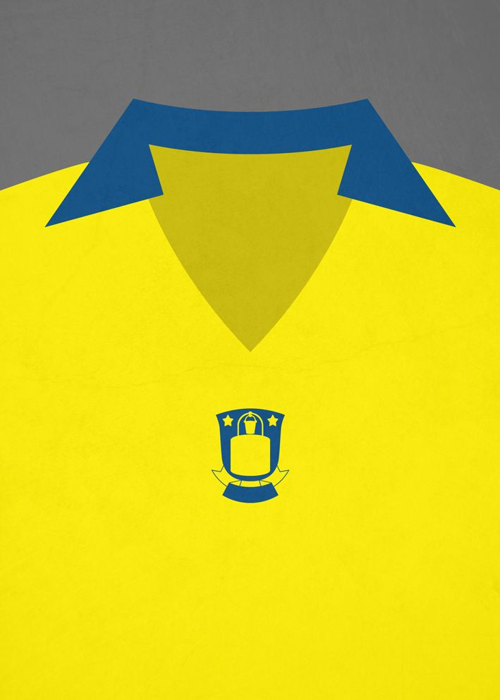 Minimalistic retro football shirt, Brøndby IF