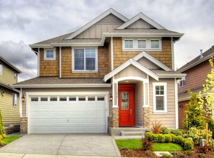 The Laurelhurst Floor Plan with fun and bright exterior colors