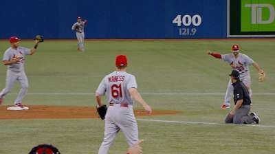 VIDEO: Cards turn their first triple play in nine years, against the Blue Jays.  6/6/13. Awesome!