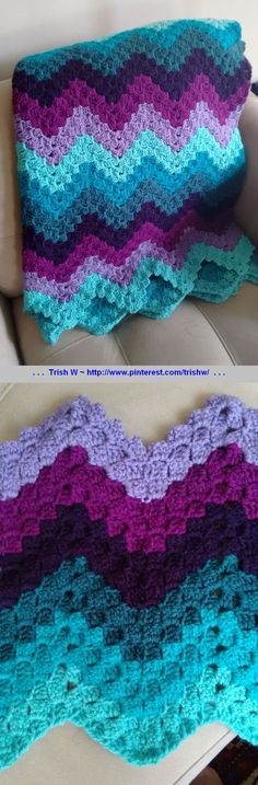 Vintage Rippling Blocks, free pattern by Angela Maria from her grandmother's pattern. Pic from Ravelry Project Gallery