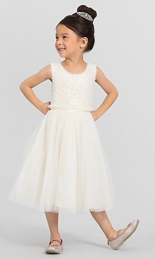c1af1a8c0a5 Tea-Length Rosalie Flower-Girl Dress by Jenny Yoo