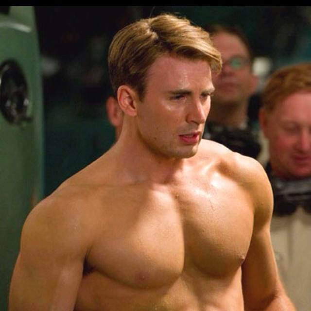 Chris Evans. Captain America. Delish