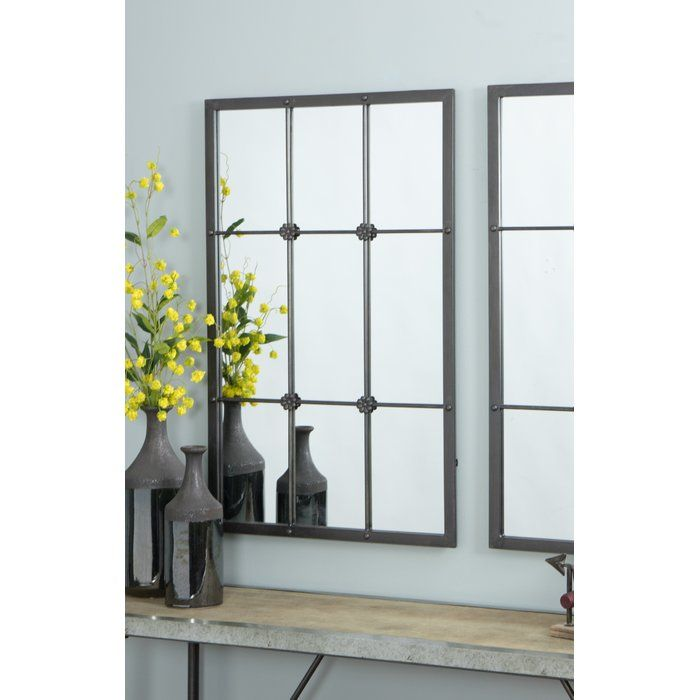 Kristofer Window Pane Wall Mirror Mirror Window Pane Mirror Windows