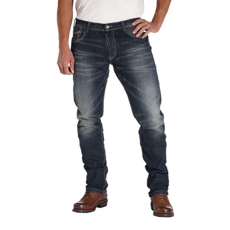 "ROKKER ""Red Selvage Slim"" abrasion-resistant motorcycle jeans."