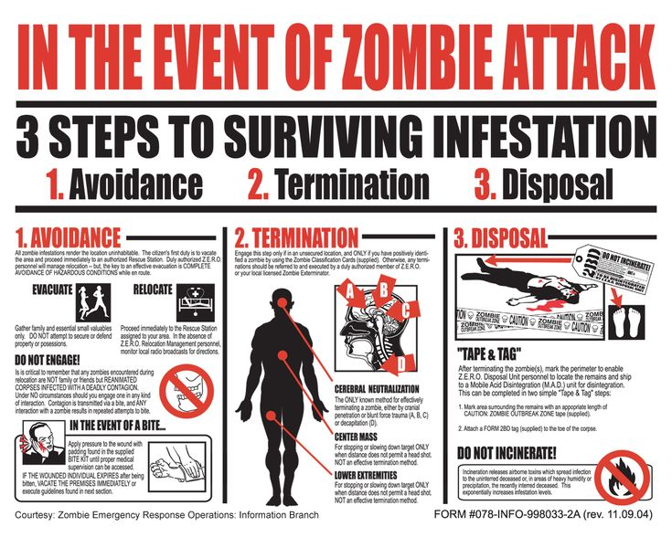 3 Steps to Surviving Infestation: 1) Avoidance 2) Termination 3) Disposal