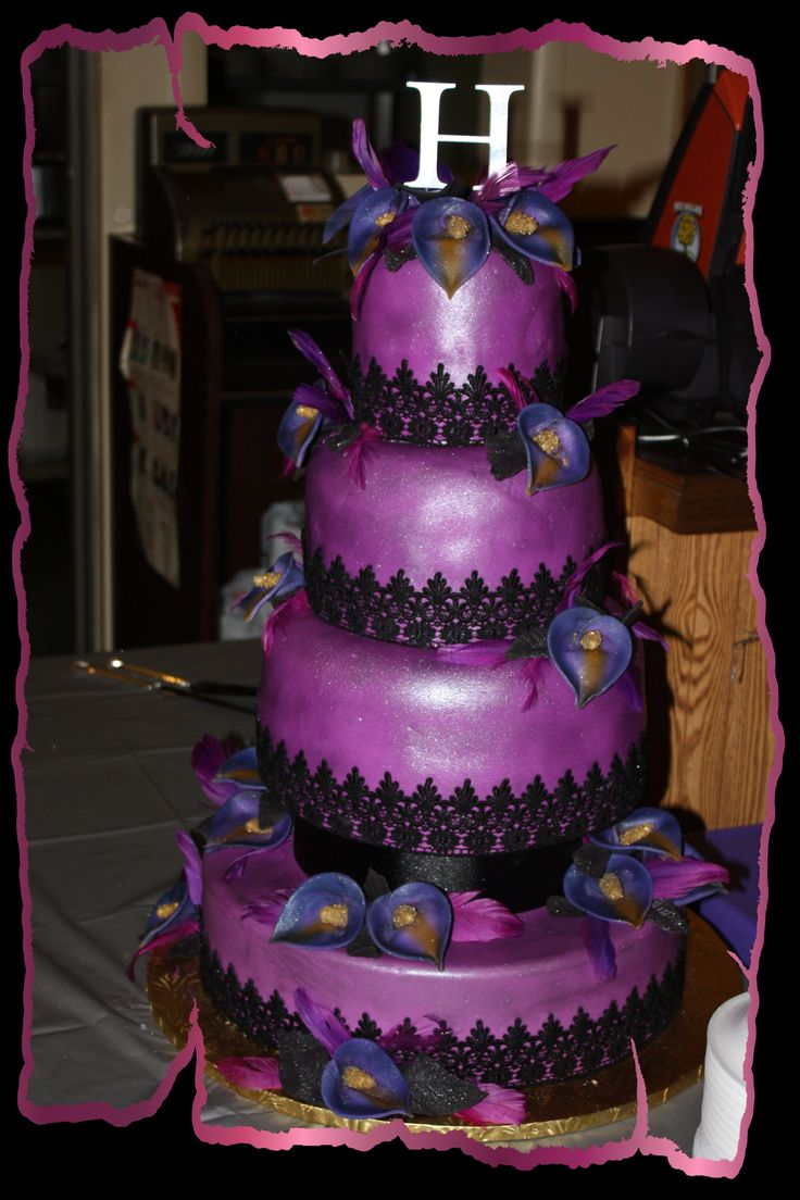 black and purple wedding cakes 1000 images about wedding cakes on 11822
