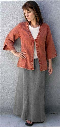 Mishka 100% Hemp biased-cut paneled hemp skirt is great for travel.