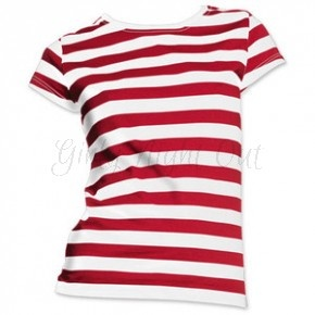 Red and White Striped Tshirt - Perfect for Wheres Wally fancy dress or as part of a Pirate Costume! #FancyDress #HenParty