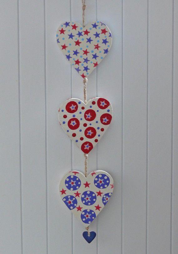 Three Hearts hanging