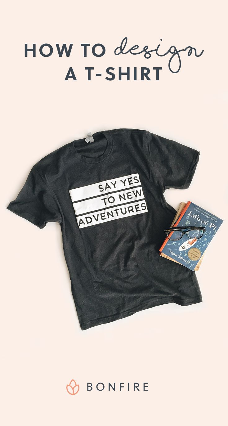 A beginner's guide to designing awesome t-shirts. Learn how to choose colors, use typography, design for screen printing, and message match with your audience. Read these tips and try your ideas out on Bonfire's online t-shirt design wizard when you're done.