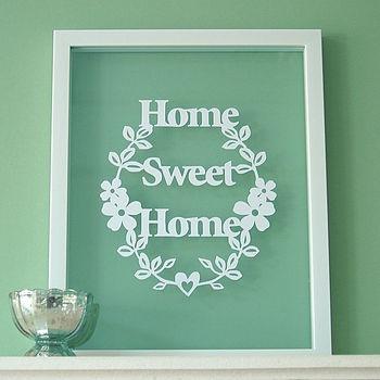 Home sweet home papercut