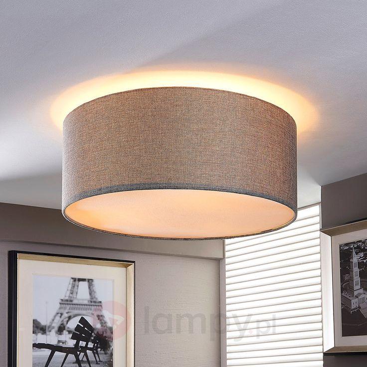 Srebrnoszara lampa sufitowa PITTA z materiału 9620653