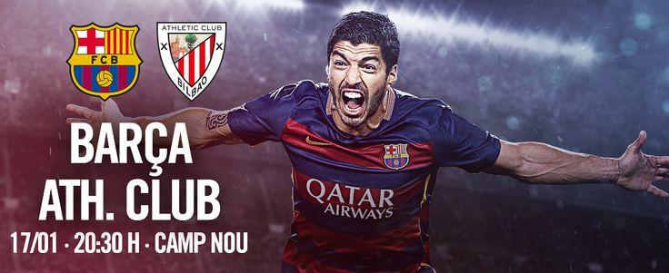 Próximo partido Fútbol | FC Barcelona vs Ath. Club | 17.01.16