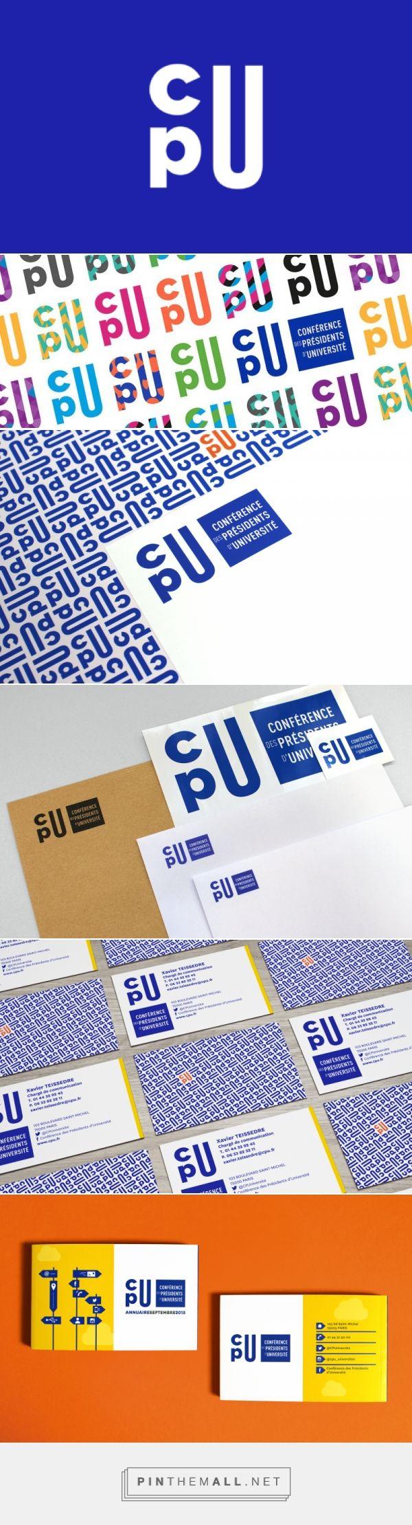 Identité visuelle de la Conférence des Présidents d'Université - Graphéine - Agence de communication Paris Lyon - created via https://pinthemall.net
