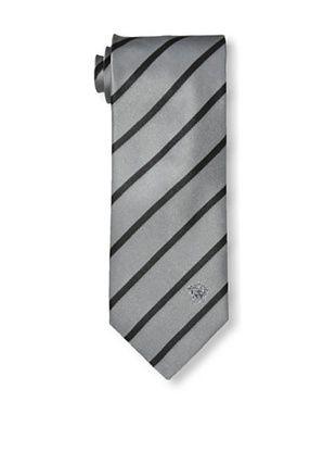 67% OFF Versace Men's Striped Tie, Gray/Black