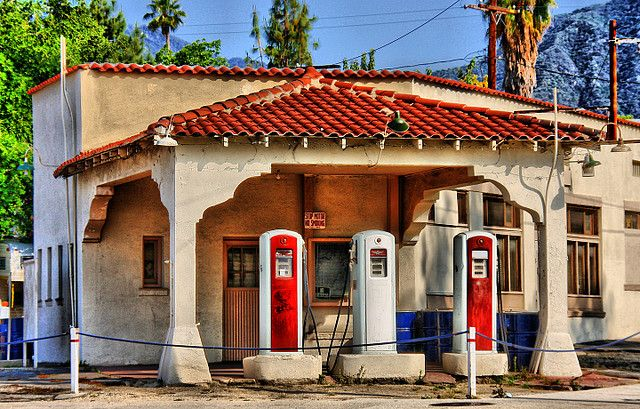 Vintage Gas Station    This beautiful landmark is in Monrovia, CA.