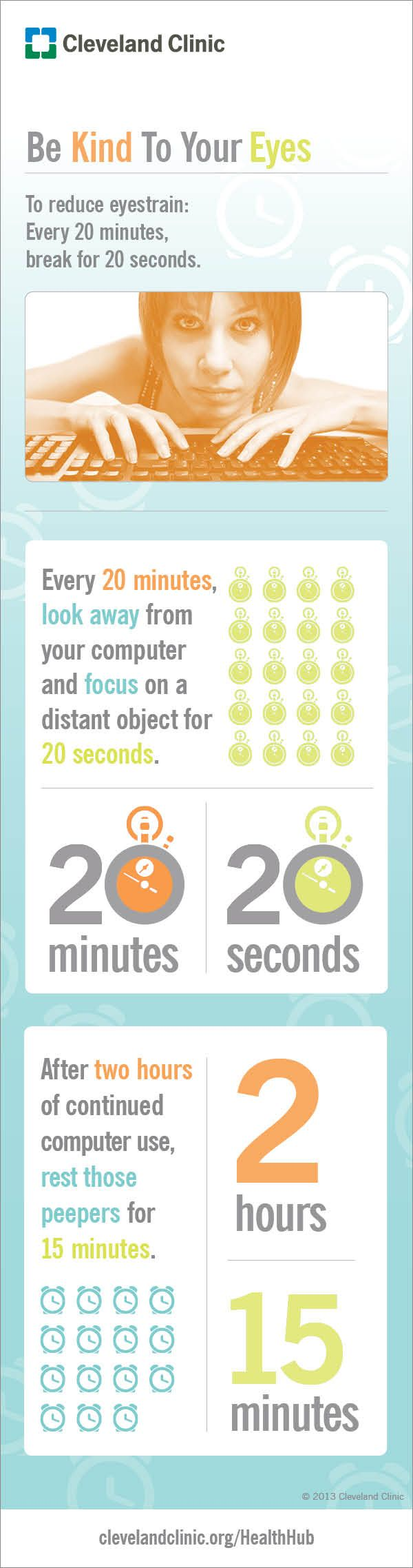 Ways to reduce eye strain.