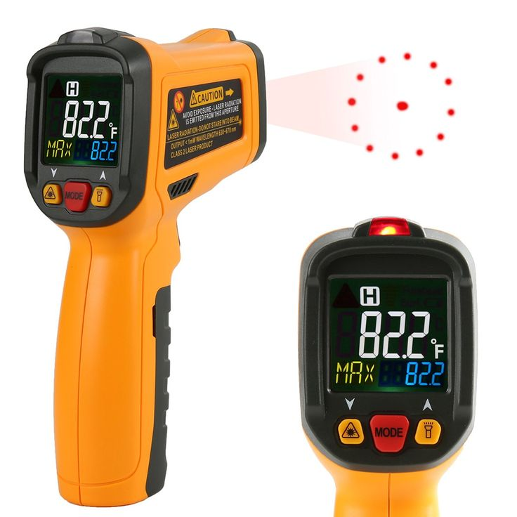 Amazon.com: Infrared thermometer Janisa PM6530B Digital Laser Thermometer Non Contact Kitchen Thermometer Temperature Gun Color Display -58°F~1022°F With 12 Point Aperture Temperature Alarm Function: Industrial & Scientific