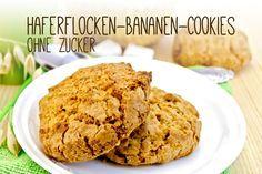 Du suchst ein Rezept für Kekse ohne Zucker? Probiere doch mal unsere leckeren Haferflocken-Bananen-Cookies. Schnell und einfach zubereitet.