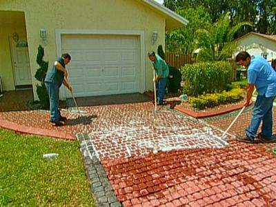 DIY Paved Driveway - But man that's a lot of bricks! Maybe use for a patio area instead